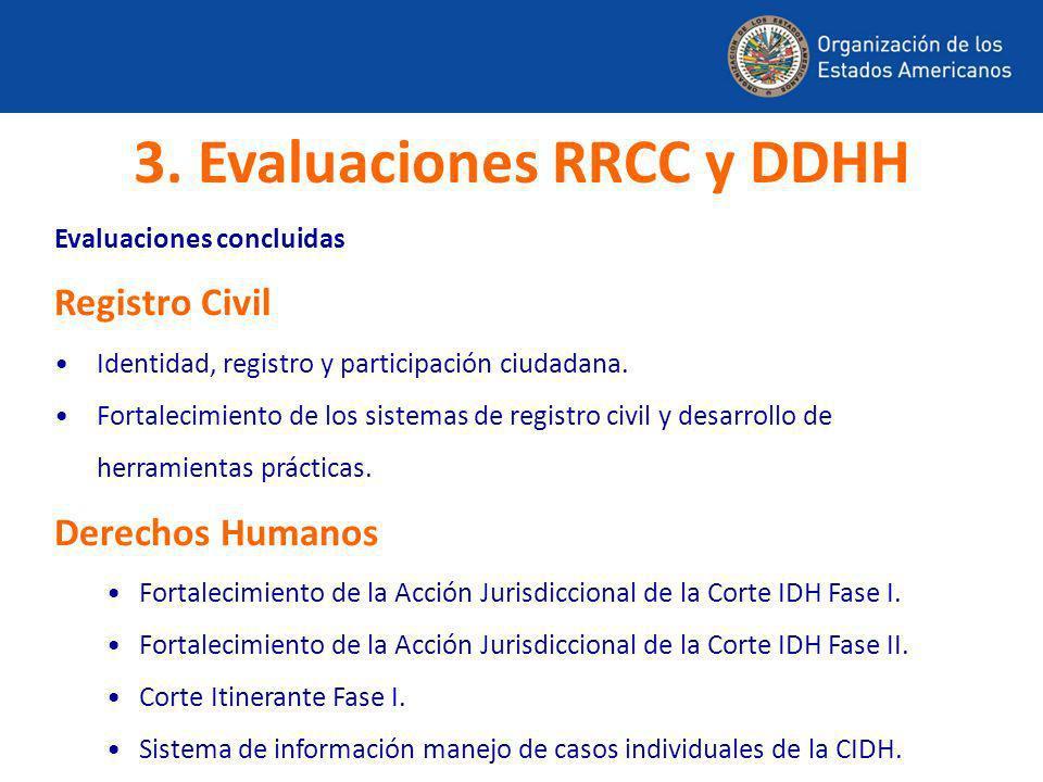 Evaluaciones concluidas Registro Civil Identidad, registro y participación ciudadana. Fortalecimiento de los sistemas de registro civil y desarrollo d