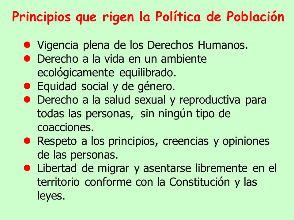 Participación de gobiernos departamentales y locales en la ejecución de la política de población.