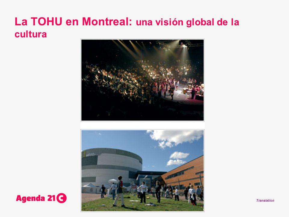 Translation La TOHU en Montreal: una visión global de la cultura