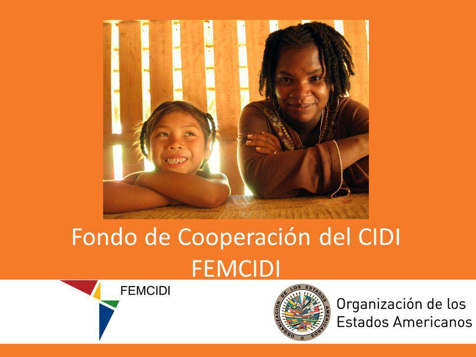 Fondo de Cooperación del CIDI FEMCIDI