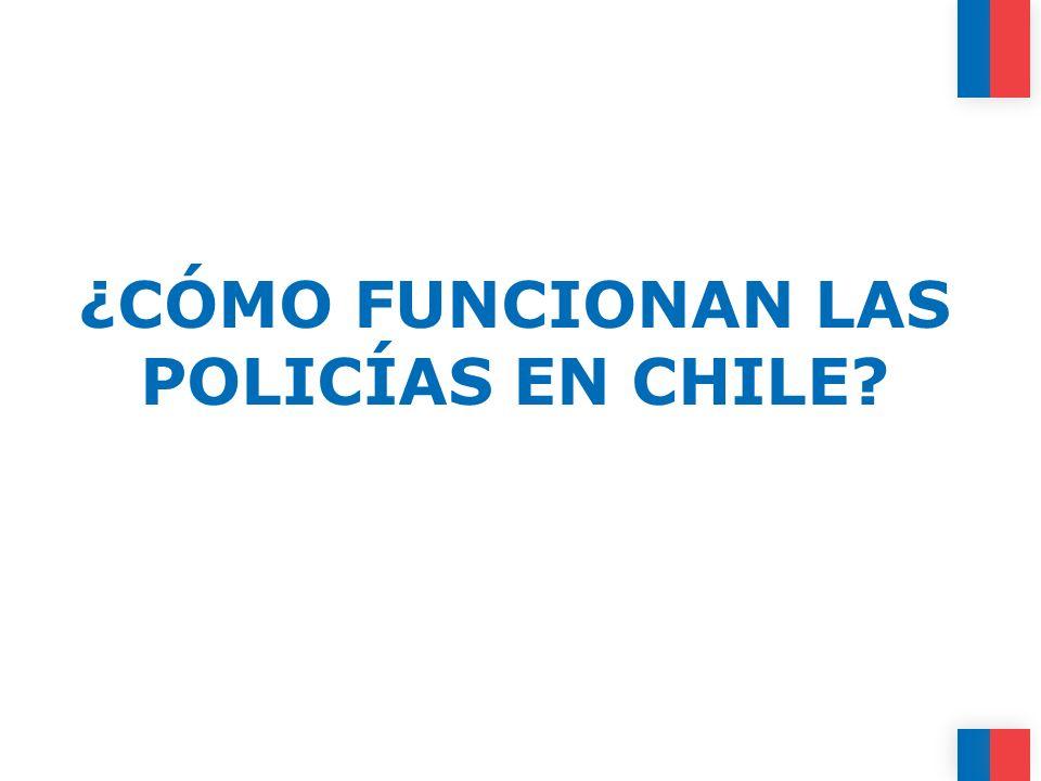 ¿CÓMO FUNCIONAN LAS POLICÍAS EN CHILE?