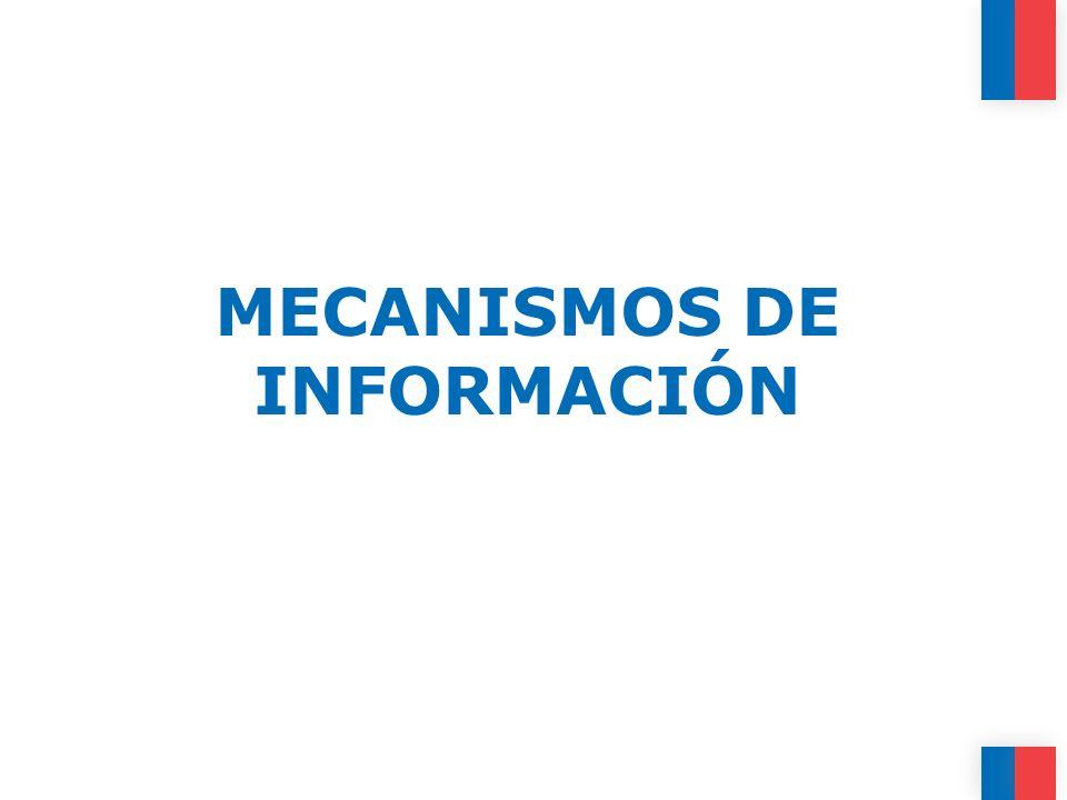 MECANISMOS DE INFORMACIÓN