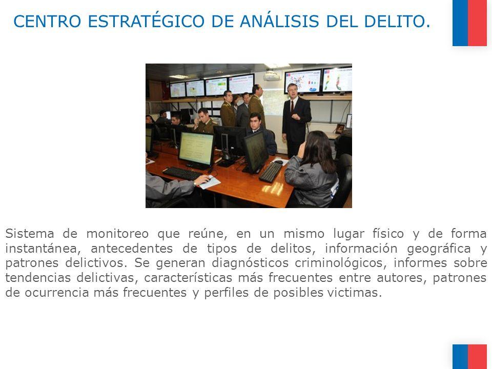 CENTRO ESTRATÉGICO DE ANÁLISIS DEL DELITO. Sistema de monitoreo que reúne, en un mismo lugar físico y de forma instantánea, antecedentes de tipos de d