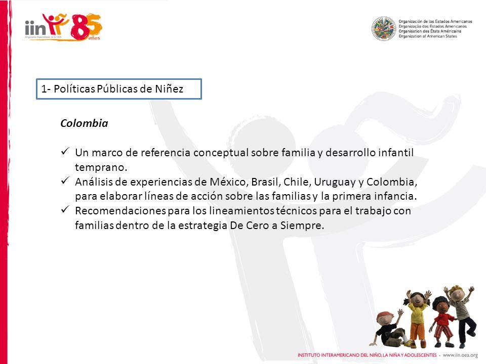 1- Políticas Públicas de Niñez Colombia Un marco de referencia conceptual sobre familia y desarrollo infantil temprano.