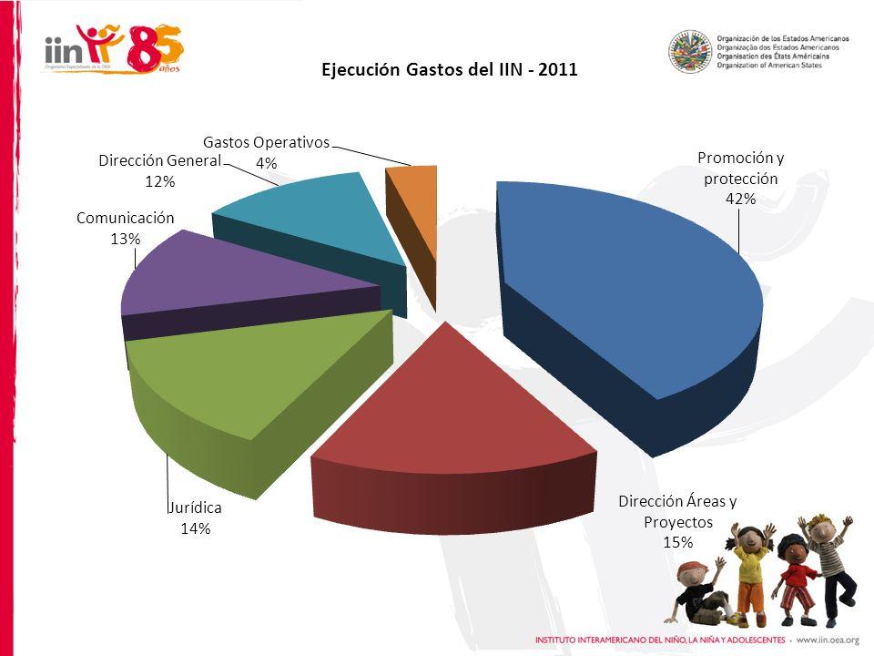 Ejecución Gastos del IIN - 2011