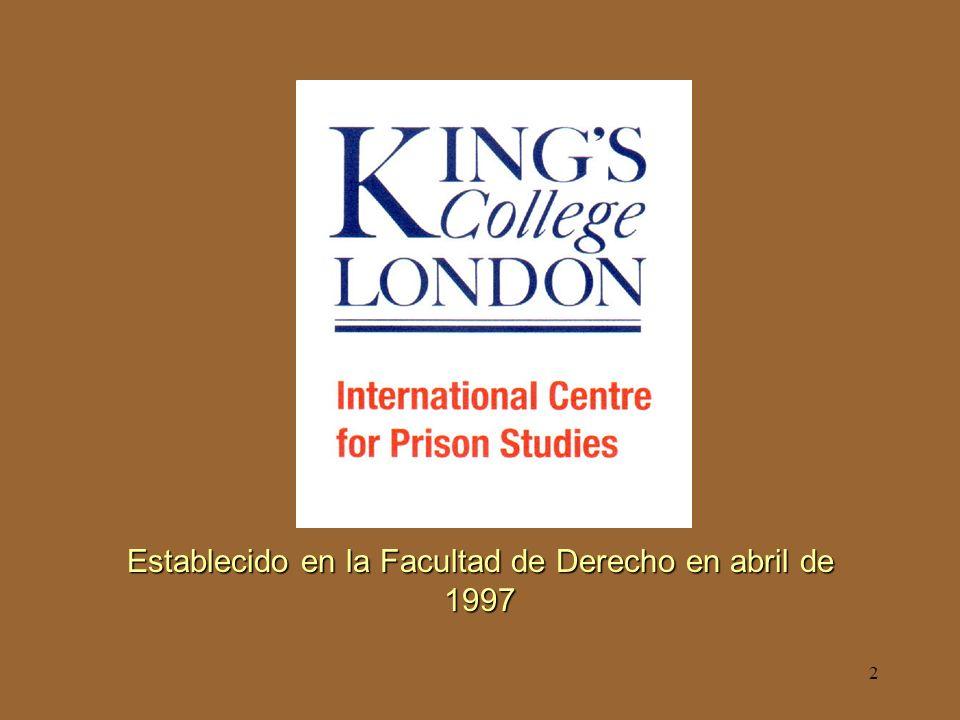 2 Establecido en la Facultad de Derecho en abril de 1997