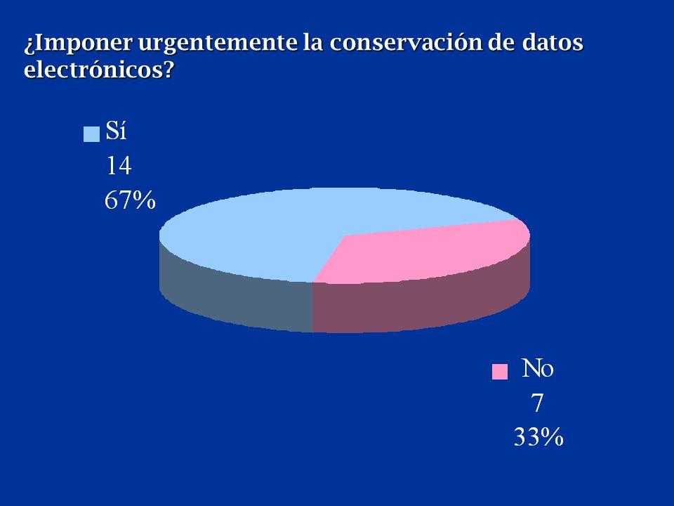¿Imponer urgentemente la conservación de datos electrónicos.