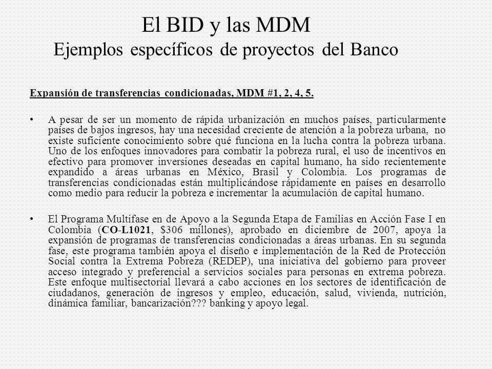 Expansión de transferencias condicionadas, MDM #1, 2, 4, 5.