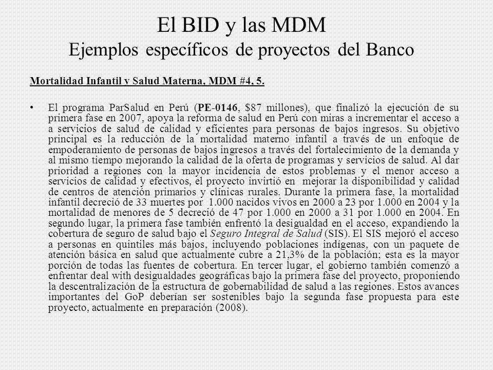 Mortalidad Infantil y Salud Materna, MDM #4, 5.