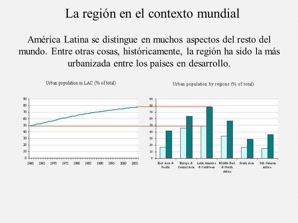 América Latina se distingue en muchos aspectos del resto del mundo.