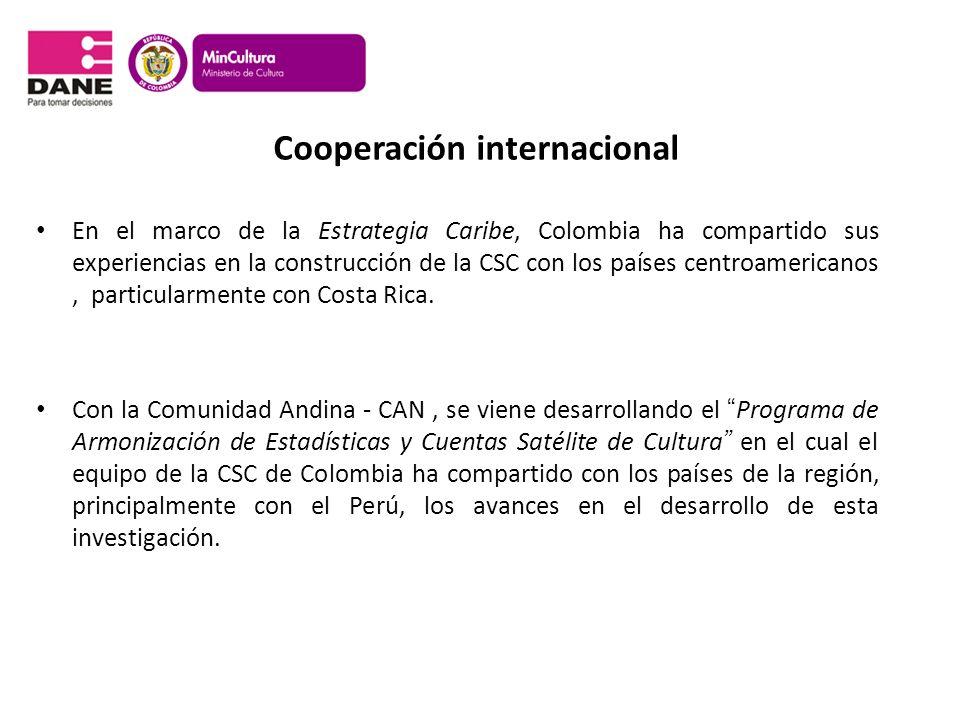 Cooperación internacional En el marco de la Estrategia Caribe, Colombia ha compartido sus experiencias en la construcción de la CSC con los países cen