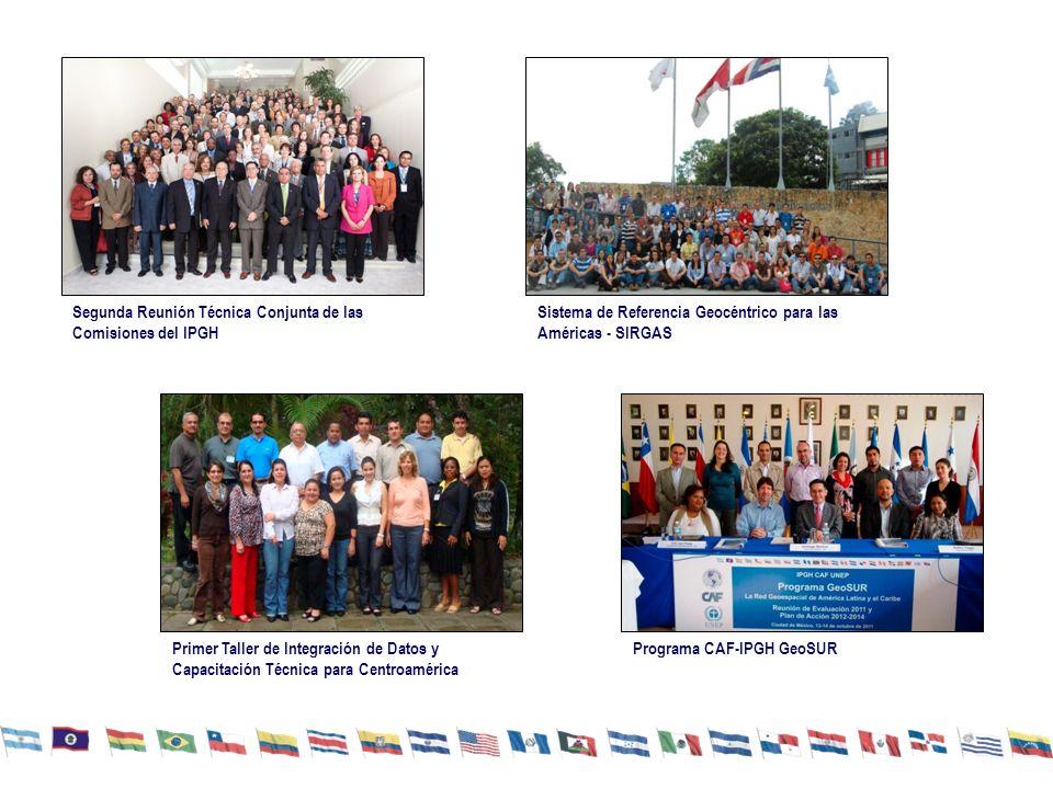 Segunda Reunión Técnica Conjunta de las Comisiones del IPGH Sistema de Referencia Geocéntrico para las Américas - SIRGAS Primer Taller de Integración de Datos y Capacitación Técnica para Centroamérica Programa CAF-IPGH GeoSUR