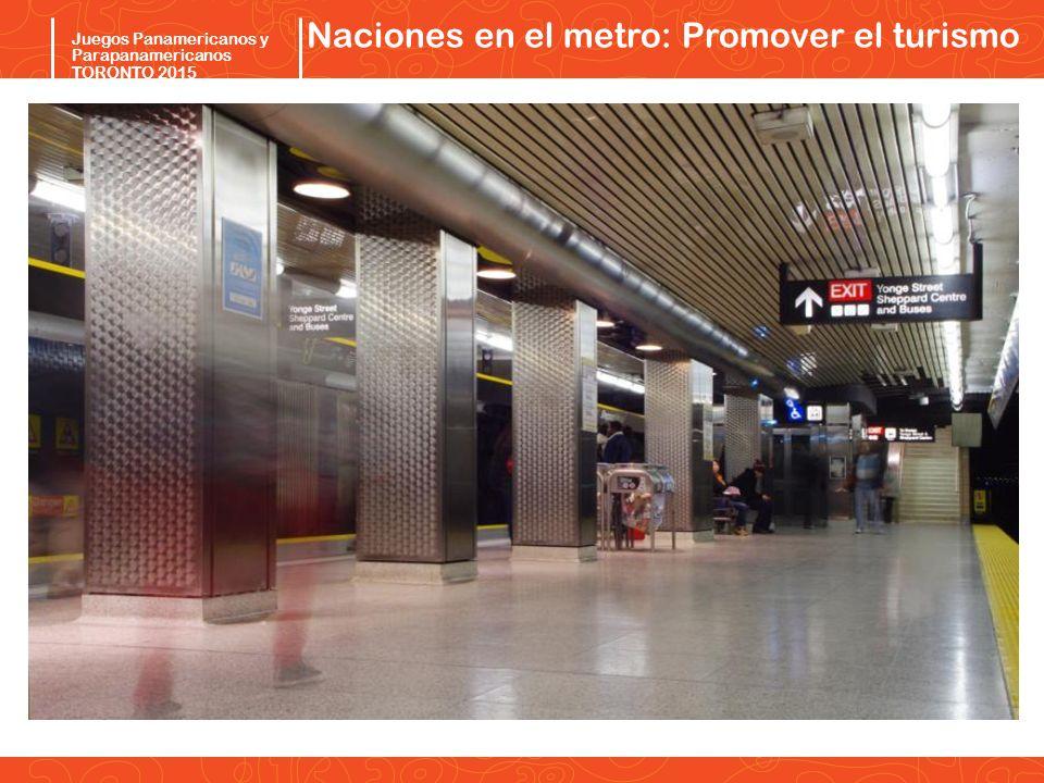 Pan/Parapan Am Toronto 2015 Juegos Panamericanos y Parapanamericanos TORONTO 2015 Naciones en el metro: Promover el turismo