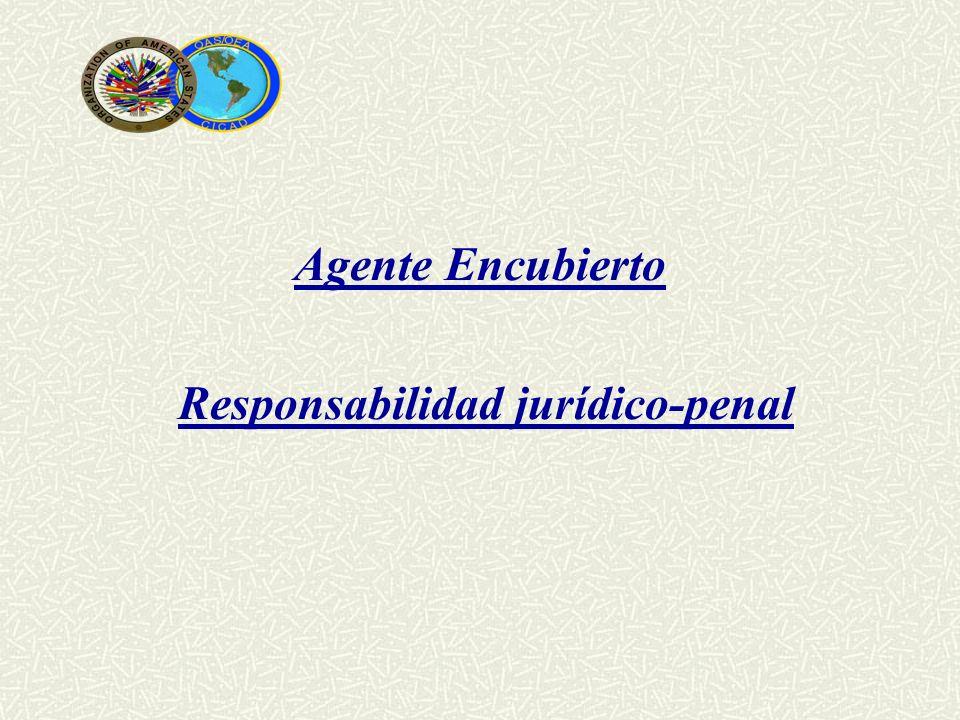 Agente Encubierto Responsabilidad jurídico-penal