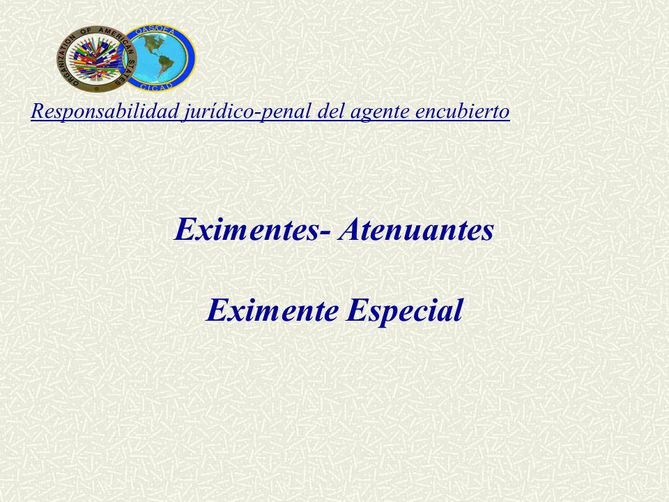 Responsabilidad jurídico-penal del agente encubierto Eximentes- Atenuantes Eximente Especial