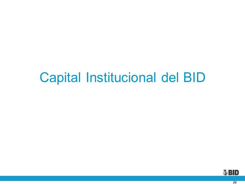 26 Capital Institucional del BID