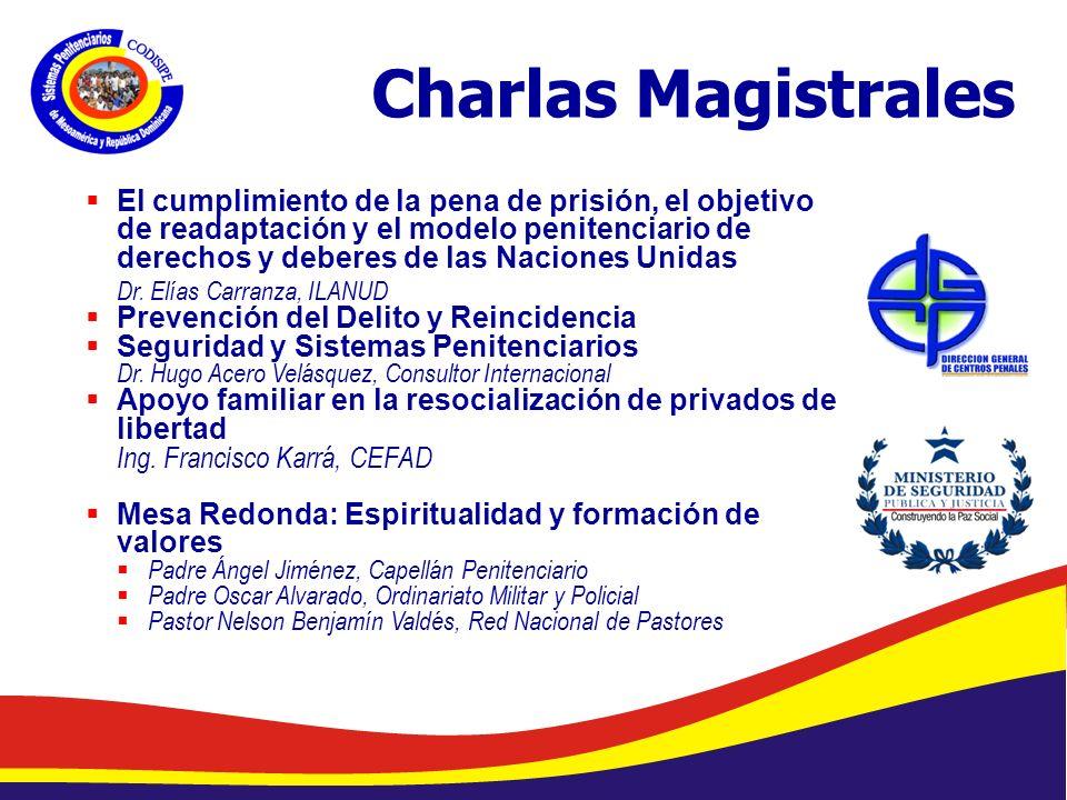 Abelardo Díaz-Flores, DME/ Programa de Prevención de Drogas en Centros Penales/ Dirección General de Centros Penales Charlas Magistrales El cumplimiento de la pena de prisión, el objetivo de readaptación y el modelo penitenciario de derechos y deberes de las Naciones Unidas Dr.