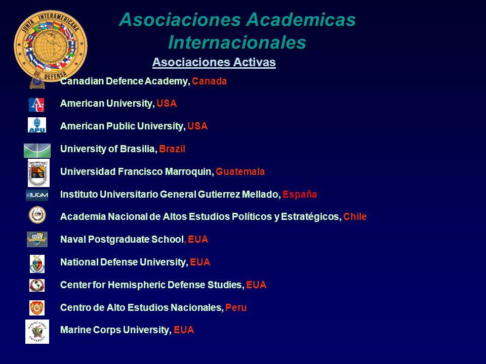 Asociaciones Academicas Internacionales Canadian Defence Academy, Canada American University, USA American Public University, USA University of Brasil