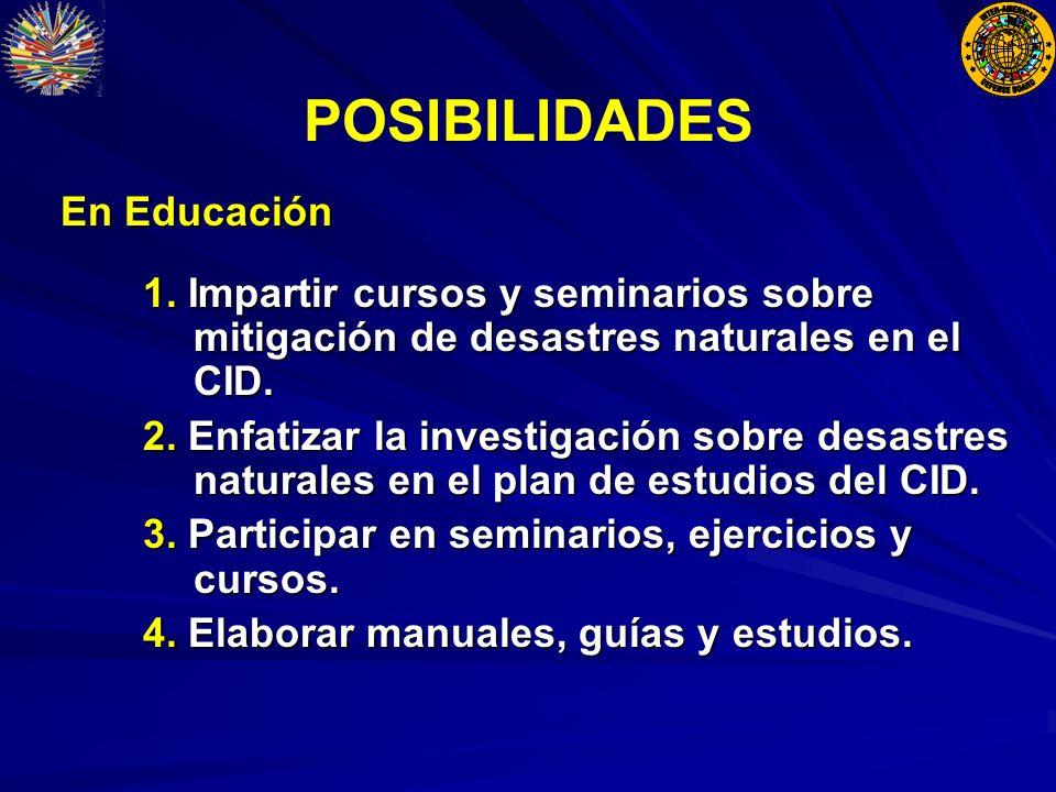 POSIBILIDADES En Educación En Educación 1.