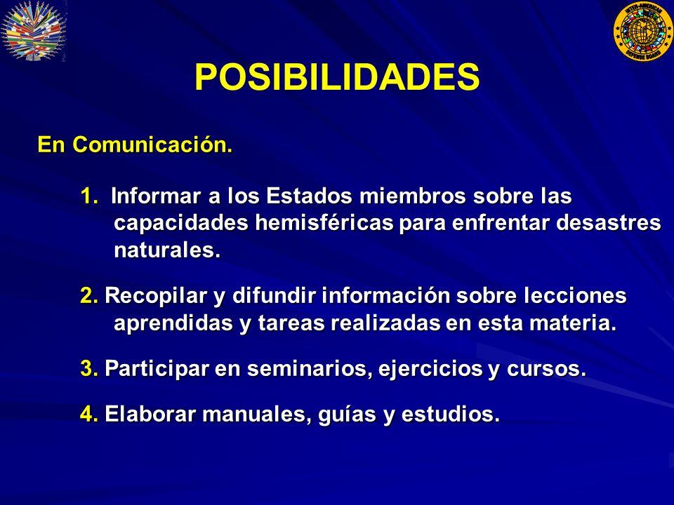 POSIBILIDADES En Comunicación. En Comunicación. 1.