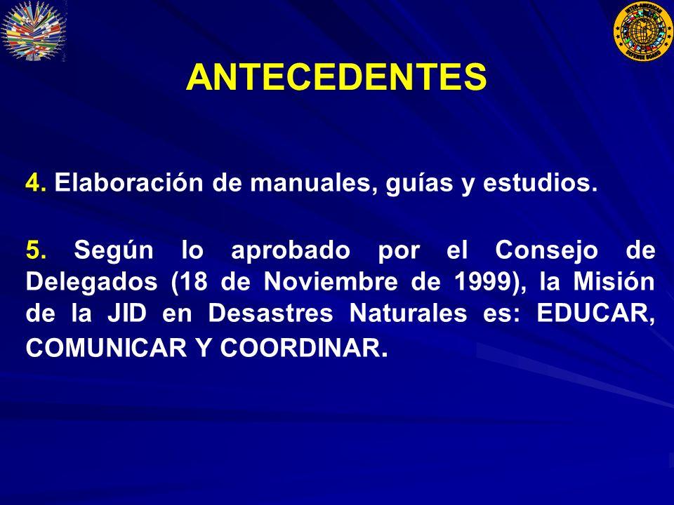 ANTECEDENTES 4. Elaboración de manuales, guías y estudios.