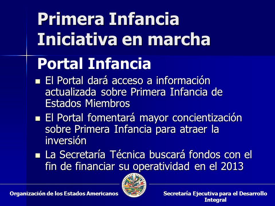 Primera Infancia Iniciativa en marcha El Portal dará acceso a información actualizada sobre Primera Infancia de Estados Miembros El Portal dará acceso