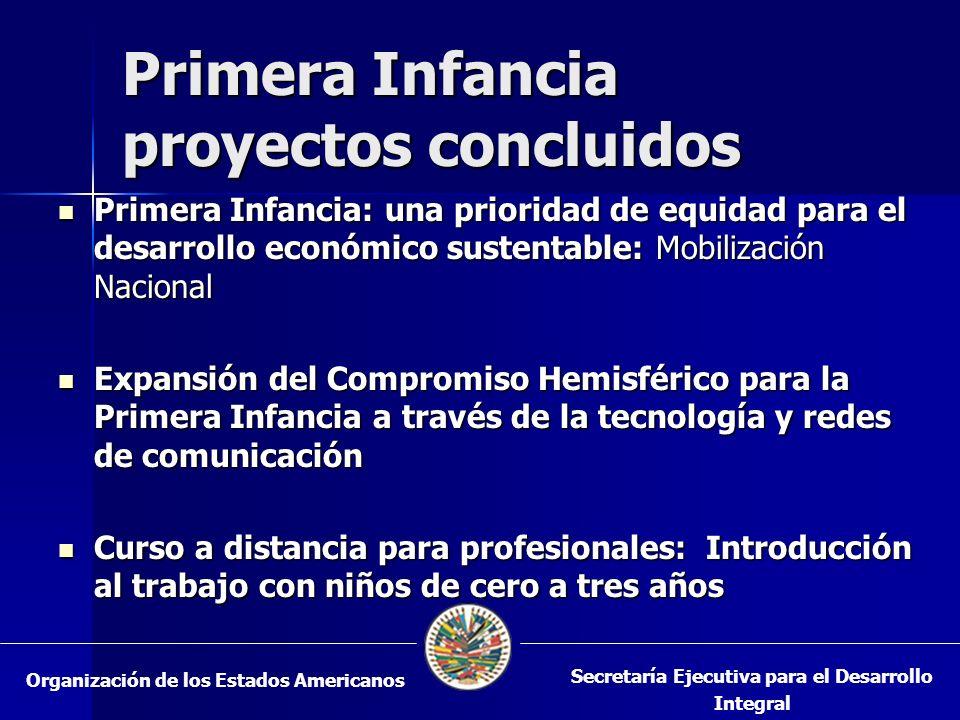 Primera Infancia proyectos concluidos Primera Infancia: una prioridad de equidad para el desarrollo económico sustentable: Mobilización Nacional Prime