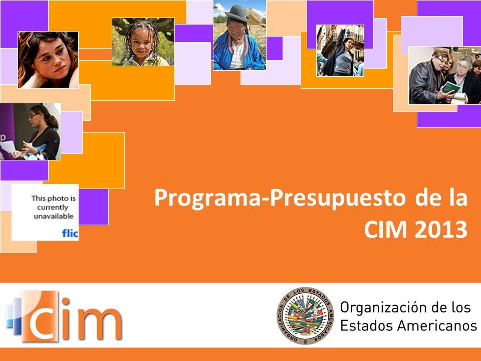 Programa-Presupuesto de la CIM 2013