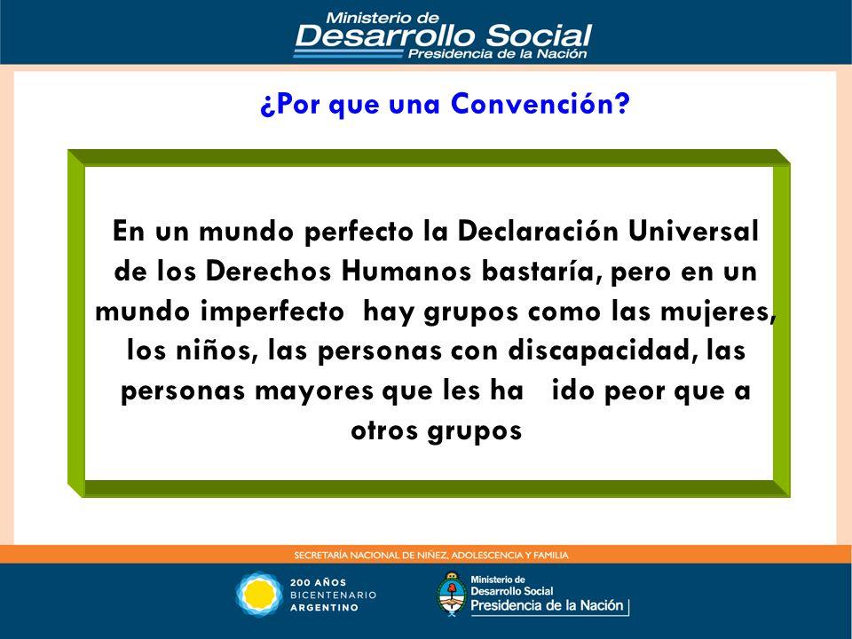 PROMOVER EN EL MARCO DE LAS NACIONES UNIDAS, LA CONVOCATORIA A UNA CONVENCION INTERNACIONAL DE LOS DERECHOS DE LAS PERSONAS DE EDAD, Cumbre de Presidentes del MERCOSUR, (2008) emitido en Salvador de Bahía, en ocasión de la XXXVI Reunión del Consejo del Mercado Común, en el cual en el punto 7 del mismo específica que ACUERDAN PROMOVER EN EL MARCO DE LAS NACIONES UNIDAS, LA CONVOCATORIA A UNA CONVENCION INTERNACIONAL DE LOS DERECHOS DE LAS PERSONAS DE EDAD, CON EL OBJETIVO DE DOTAR A LOS MISMOS, DE UN INSTRUMENTO INTERNACIONAL JURIDICAMENTE VINCULANTE, QUE ESTANDARICE SUS DERECHOS, Y QUE ESTABLEZCA LOS MECANISMOS Y EL ORGANO PARA HACERLOS EXIGIBLES, TODA VEZ QUE SE TRATA DE UN SECTOR VULNERABLE DE LA POBLACIÓN, QUE ES OBJETO DE PRACTICAS Y TRATAMIENTO DISCRIMINATORIO.