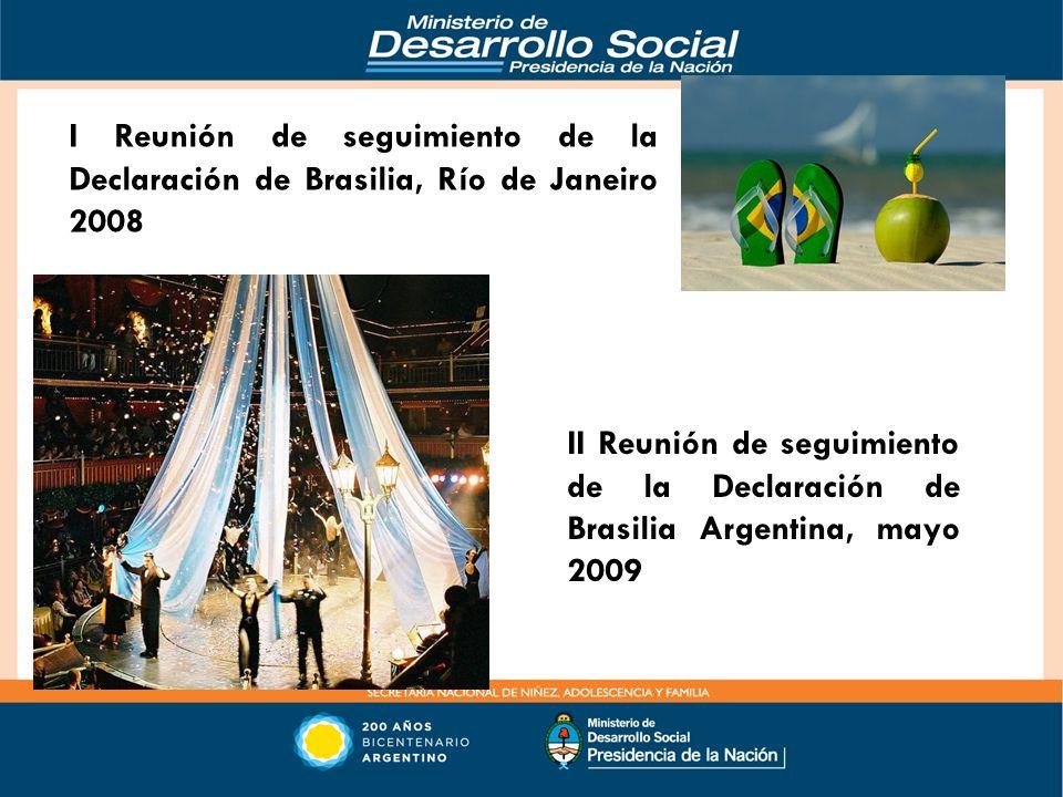 II Reunión de seguimiento de la Declaración de Brasilia Argentina, mayo 2009 I Reunión de seguimiento de la Declaración de Brasilia, Río de Janeiro 20