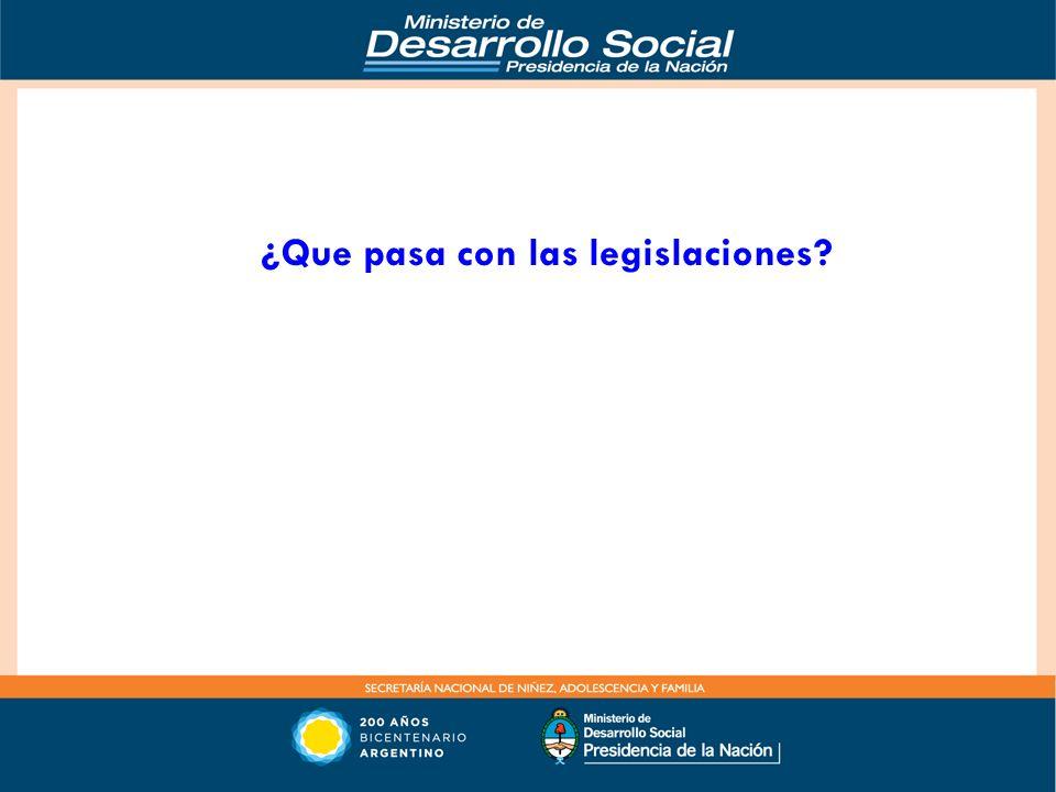 ¿Que pasa con las legislaciones?