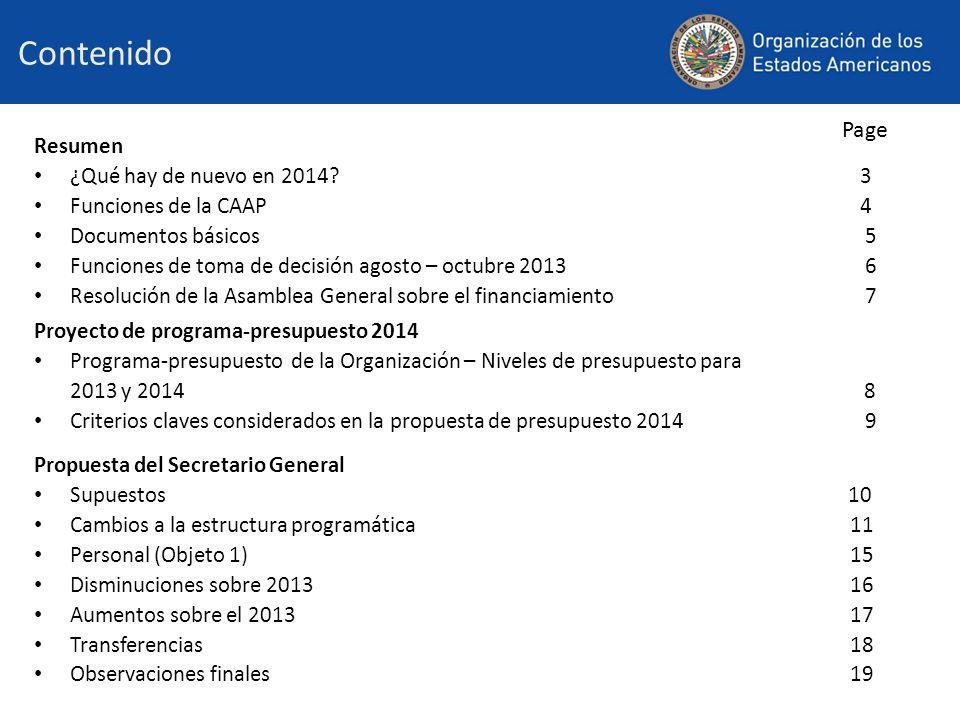 Contenido Resumen ¿Qué hay de nuevo en 2014.