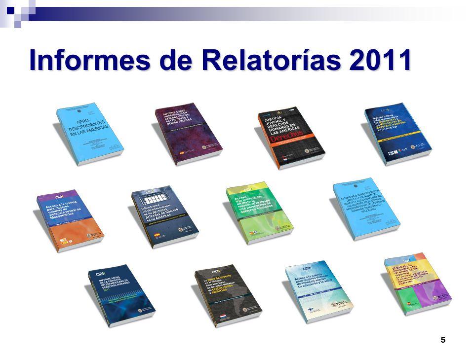 5 Informes de Relatorías 2011