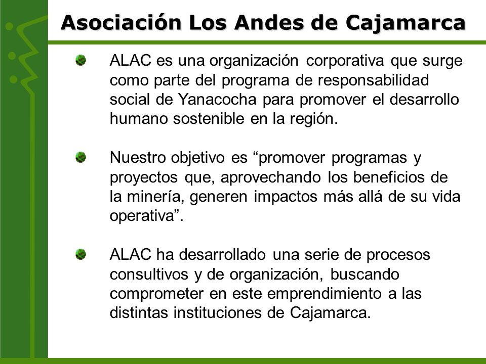 ALAC es una organización corporativa que surge como parte del programa de responsabilidad social de Yanacocha para promover el desarrollo humano soste
