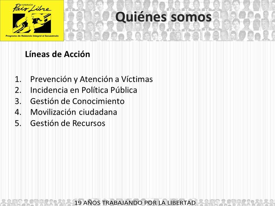 18 AÑOS TRABAJANDO POR LA LIBERTAD Brechas y propuestas de la política Antisecuestro en Colombia