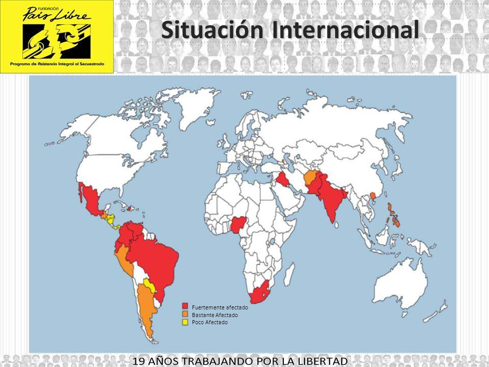18 AÑOS TRABAJANDO POR LA LIBERTAD Situación Internacional El secuestro en la región se ha incrementado.