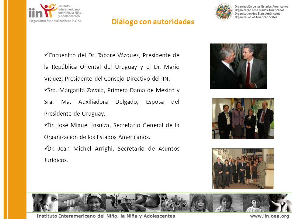 Diálogo con autoridades Encuentro del Dr.