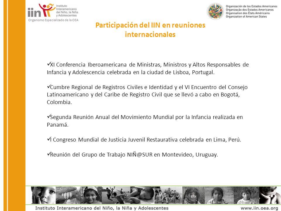 Participación del IIN en reuniones internacionales XI Conferencia Iberoamericana de Ministras, Ministros y Altos Responsables de Infancia y Adolescencia celebrada en la ciudad de Lisboa, Portugal.