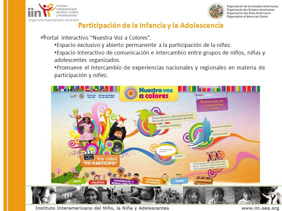 Portal interactivo Nuestra Voz a Colores.