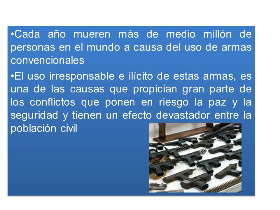 América Latina y el Caribe es una de las regiones más afectadas por el tráfico ilícito de las armas pequeñas y ligeras Entre 73,000 y 90,000 personas mueren cada año debido a este tipo de armas en la región El 60% de los asesinatos en América Latina y el Caribe son perpetrados con dichas armas América Latina y el Caribe es una de las regiones más afectadas por el tráfico ilícito de las armas pequeñas y ligeras Entre 73,000 y 90,000 personas mueren cada año debido a este tipo de armas en la región El 60% de los asesinatos en América Latina y el Caribe son perpetrados con dichas armas