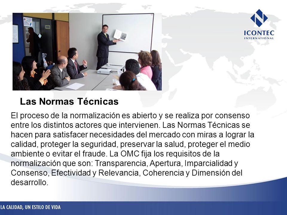 El proceso de la normalización es abierto y se realiza por consenso entre los distintos actores que intervienen. Las Normas Técnicas se hacen para sat