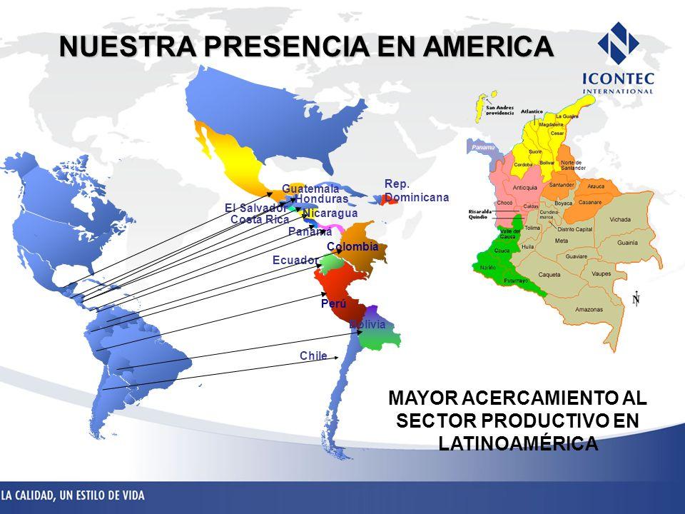 NUESTRA PRESENCIA EN AMERICA MAYOR ACERCAMIENTO AL SECTOR PRODUCTIVO EN LATINOAMÉRICA