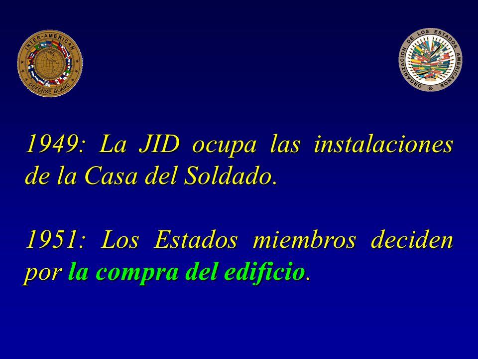 1949: La JID ocupa las instalaciones de la Casa del Soldado.