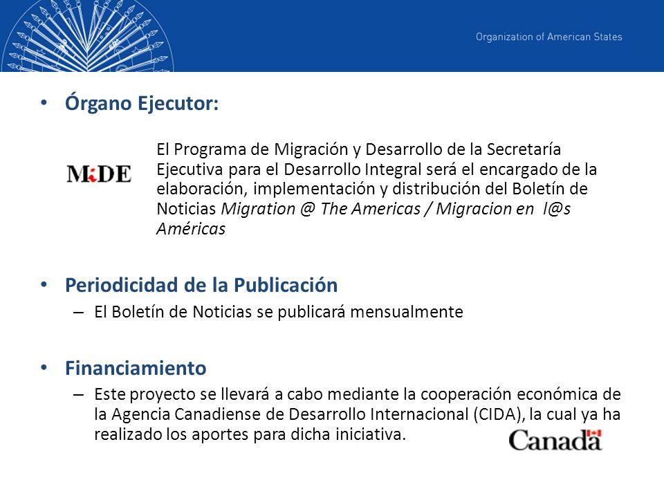 Las fuentes de las noticias son identificadas a través de un sistema de alerta de noticias similar al que utiliza el Departamento de Prensa de la OEA.