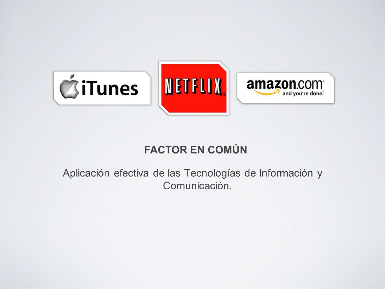 Aplicación efectiva de las Tecnologías de Información y Comunicación. FACTOR EN COMÚN