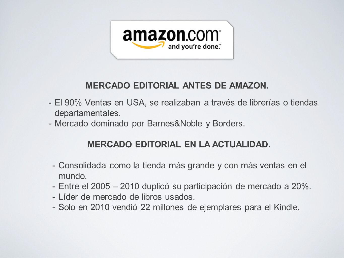 MERCADO EDITORIAL ANTES DE AMAZON.