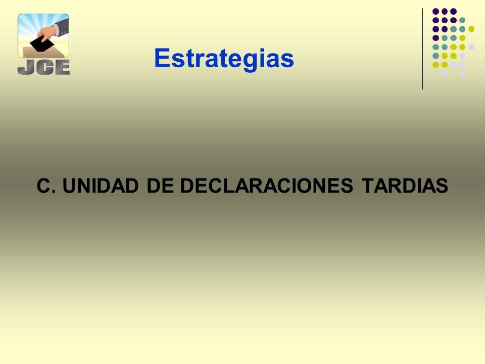 C. UNIDAD DE DECLARACIONES TARDIAS