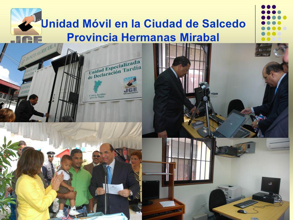 Unidad Móvil en la Ciudad de Salcedo Provincia Hermanas Mirabal