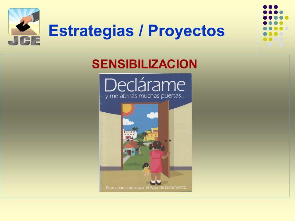 Estrategias / Proyectos SENSIBILIZACION