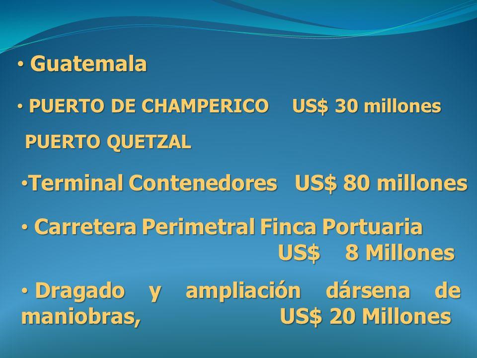 Guatemala Guatemala PUERTO QUETZAL Terminal Contenedores US$ 80 millones Terminal Contenedores US$ 80 millones Carretera Perimetral Finca Portuaria US